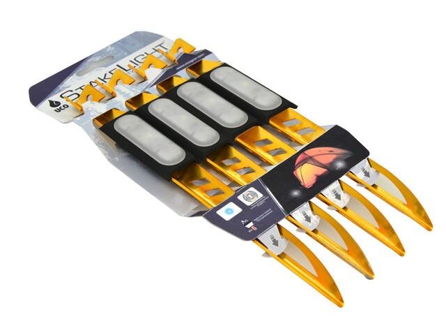 UCO Piquetas - Accesorios para tienda de campaña - 4 pzas con LED Dorado